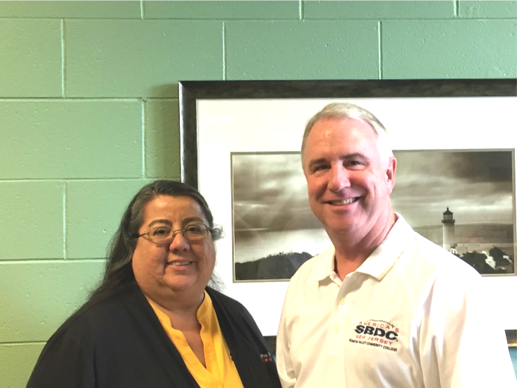 Pictured L to R; Rebeca Jimenez, Owner, CertaPro Painters and Bill Harnden, SBDC at RVCC Regional Director