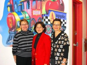 Pictured (L to R) Mary Matthews, SBDC Director Sue Johnson and Dr. Margaret Buley